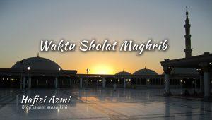 Batas waktu sholat maghrib